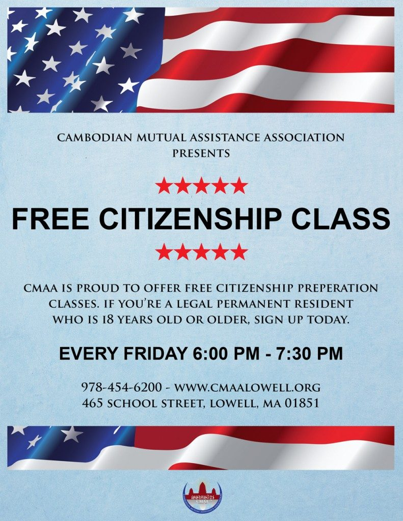 U.S. Citizenship Preparation Class @ CMAA | Lowell | Massachusetts | United States